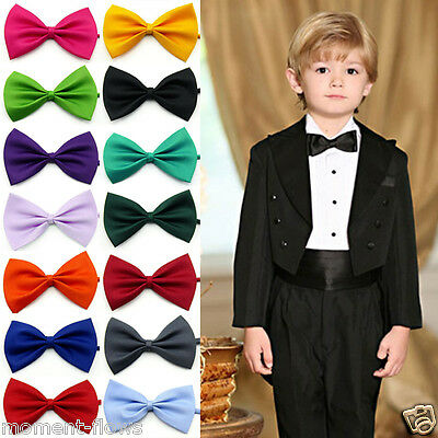 Boy Kid Child Children Pre-tied Party Wedding Tuxedo KBT Bowties Tie Necktie