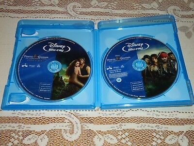 MINT Pirates of the Caribbean On Stranger Tides 2 Disc Blu-ray with Case + Cover