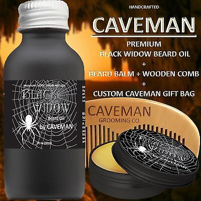 Balm Free Beard Brush Precise Hand Crafted Caveman® Beard Oil Set Kit Beard Oil Shaving & Hair Removal