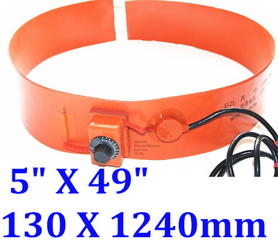 1240 mm x 130 mm 220 V 800 W Tank Drum Band Heater with Control Barrel 55G
