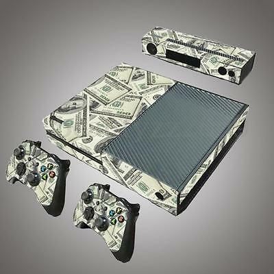 1 Set Console + Controllers Dollar Vinyl Skin Sticker Cover Decal For Xbox ONE