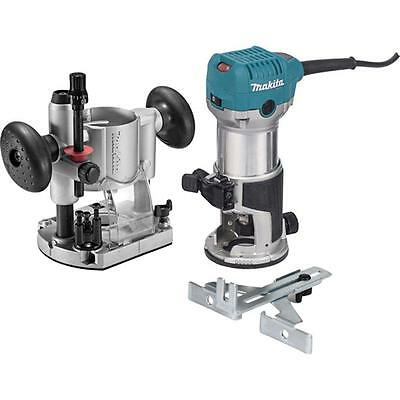 Makita Durable HP Compact Router Kit Powerful Motor Heavy-Duty Aluminum Corded
