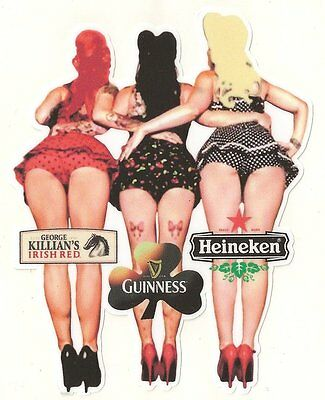 Sticker Pin up beers 100mm x 80mm