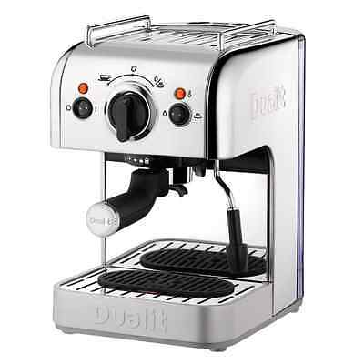 Dualit 3 in 1 Coffee Machine, 15 Bar, 1250W, Polished Stainless Steel - 84440