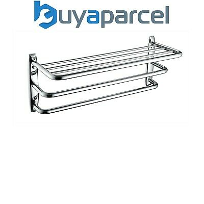 Bristan Complimentary Accessory 3 Tier Towel Shelf Chrome Plated 257mm x 600mm