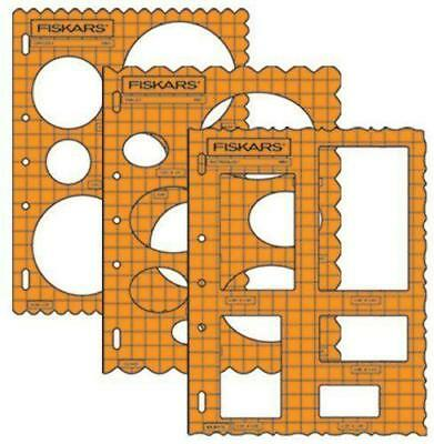 fiskars shape template basic shapes set of 3 ovals rectangles circle