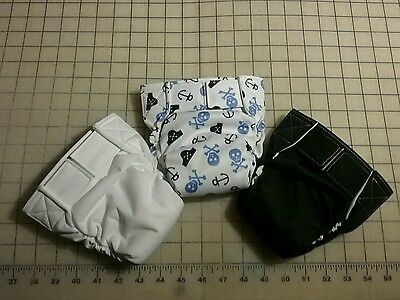 Bum-ware AIO cloth baby diapers with hook and loop closure size small/set of 3
