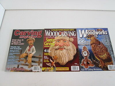 3 Wood Carving Magazines with How-To Projects!