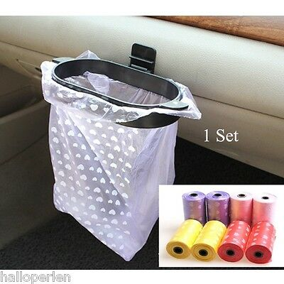 BE Car Rubbish Bags Trash Hanger Garbage Set Eco-friendly 2Roll 20PCs
