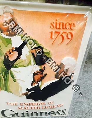 """Guinness Emperor Since 1759 on Metal sign 12"""" x 8"""" inches - IMMEDIATE SHIPMENT"""