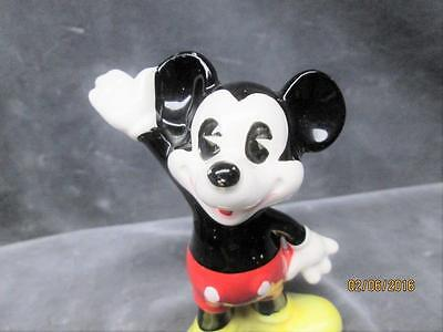 Vintage Mickey Mouse Ceramic Figure Made In Japan