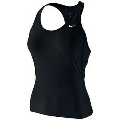 Nike Airborne Long Tank Integral Support Shelf Bra Running Cotton Poly Mix RP£27