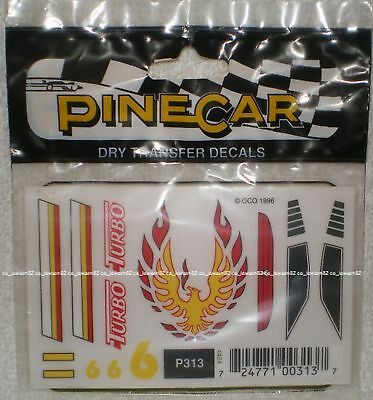 Pine Car Pinewood Derby DECALS TURBO#P313