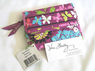 Vera Bradley FLUTTERBY Euro WALLET Trifold COIN for PURSE Tote BACKPACK Bag  NWT
