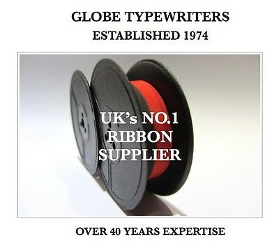 1 x 'ROYAL 970' *BLACK/RED* TOP QUALITY *10 METRE* TYPEWRITER RIBBON