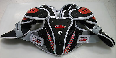 New Warrior box lacrosse shoulder pads Fat Boy sz Large Hitman chest indoor