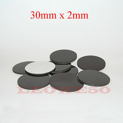 30mm x 2mm self adhesive disc magnets round rubber magnetic craft dots #817