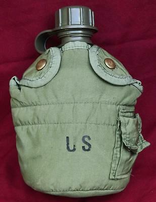1 Quart U.S. Military Service Men Canteen w/ Cover - U.S. Military Surplus Item