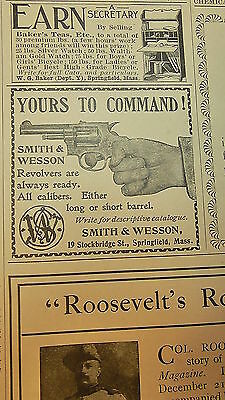 Original Antique Print Advertising, NOT Repro, Smith & Wesson,12/29/1898