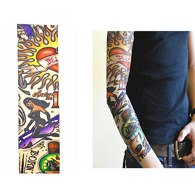 New Cycling Fishing Outdoor Sports Tattoo UV Protection Rock Arm Sleeves