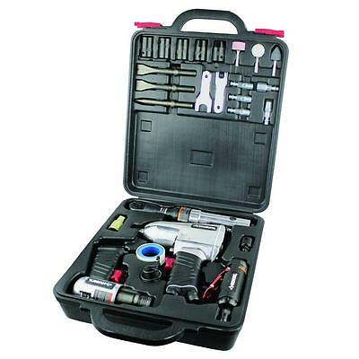 Husky Aluminum Air Tool Kit Bolting Impact Wrench Straight Die Grinder Ratchet