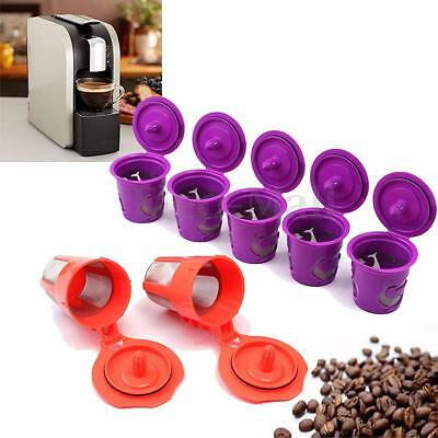 7Pcs K-Cup K-Carafe Reusable Refillable Coffee Filter Capsule For Keurig 2.0