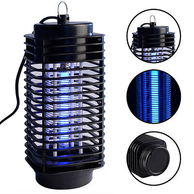 Electric Flying Insect Killer Grill Indoor Mosquito Pest Fly Bug Zapper W/ Lamp