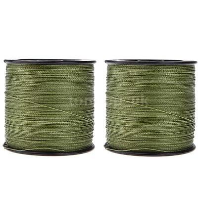 2x 500M 30LB 0.26mm Fishing Line Strong Braided PE 4 Strand UK Shipping W7G6
