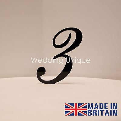 Cake Topper numbers acrylic monogram. Various colours! BEST PRICE!!