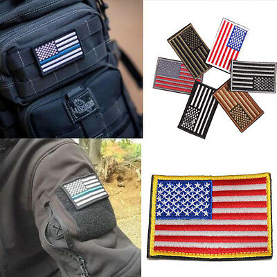 USA American Flag Small Iron On / Sew Cloth Patch Badge United States America US
