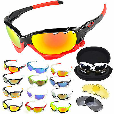 Outdoor Cycling Bike Sport UV 400 3 Lens Protection Goggles Sun Fishing Glasses