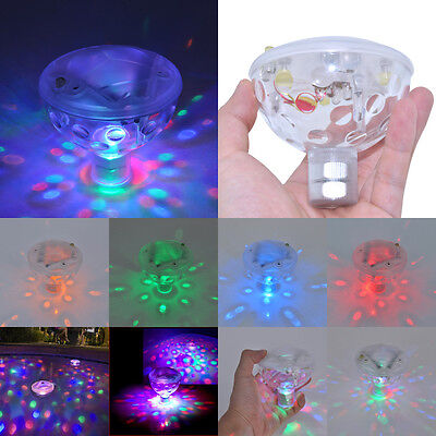 UK Floating Underwater LED Disco Light Glow Show Swimming Pool Hot Tub Spa Lamp