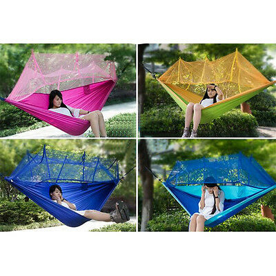 Outdoor Travel Jungle Camping Hammock Garden Hanging Parachute Bed +Mosquito Net