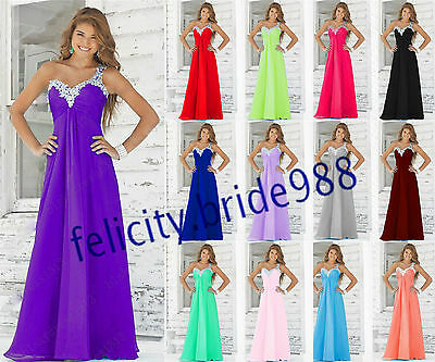 2017 STOCK New Bridesmaid Formal Gown Ball Party Cocktail Evening Prom Dresses