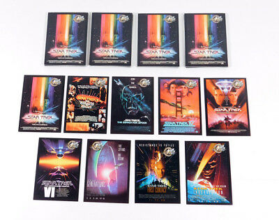 Lot of (5) 2000 Skybox Star Trek Cinema 2000 Movie Posters Chase Card Set (9)