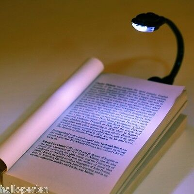 HP Mini Flexible Clip-On Bright Book Light Laptop LED Book Reading Light Lamp