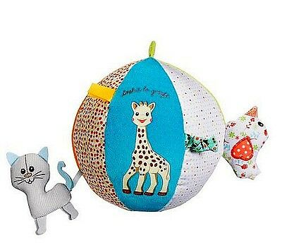 Sophie the Giraffe Baby Chime Rattle Football Soccer Ball Crib Soft Sports Toy