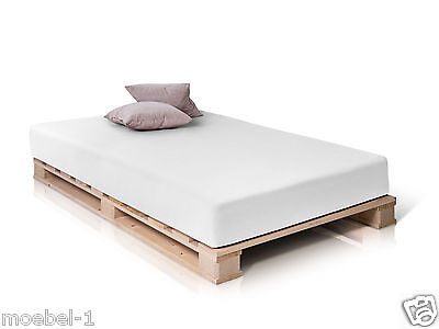 doppelbett holzbett palettenbett bett 140x200 jugendbett paletti fichte massiv eur 139 00. Black Bedroom Furniture Sets. Home Design Ideas