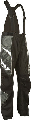 Fly Racing SNX Black/Grey Mens High Performance Insulated Snowmobile Pants 2016