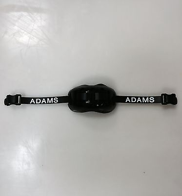 Adams Pro 100 football chin strap black 2 point padded guard cup new lacrosse
