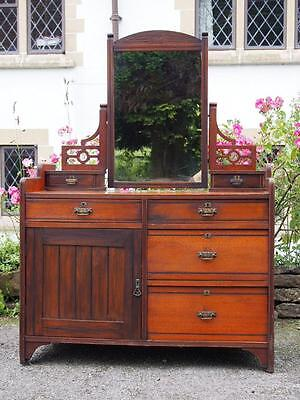 A Beautiful Old Antique Victorian R Crosby & Sons Dressing Chest Made Needs TLC