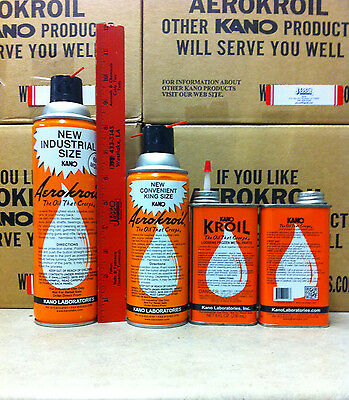 3 Cans Aero Kroil Penetrating Spray - Kano 13 Oz Can - King Size     Jesco Sales