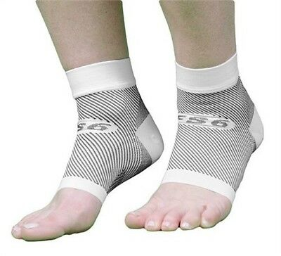 OrthoSleeve FS6 Compression Foot Sleeve Pair, White, Large