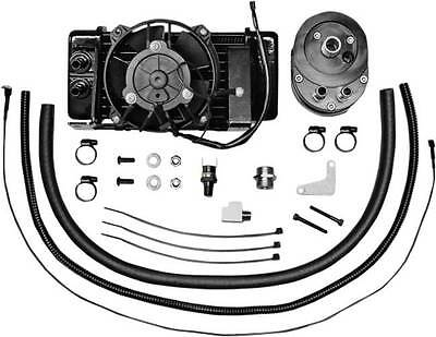 Jagg Low Mount Fan Assisted Oil Cooler Kit for Harley 09-13 FLHT FLHX FLHR FLTR
