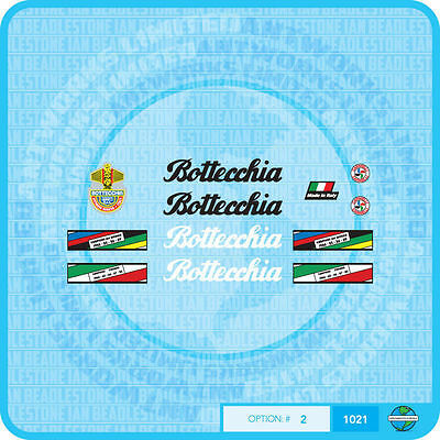 Stickers Bottecchia Bicycle Decals Transfers Set 2