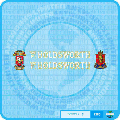 Set 14 Holdsworth Bicycle Decals Transfers Stickers White With Gold Key