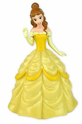 Belle Coin Bank Disney Princess Yellow Dress Molded Plastic Glittery Accents New