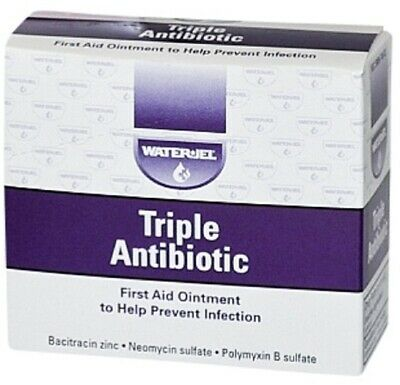 First Aid Triple Antibiotic Ointment by Waterjel 25/Box (2 Boxes) FREE SHIPPING