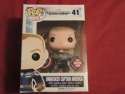 Funko Pop! Unmasked Captain America Pop 41 Exclusive Toy Matrix Variant Edition