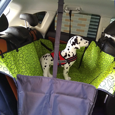 Pet Dog Car Seat Cover Waterproof Rear Back Carrier Protector Hammock Mat Green